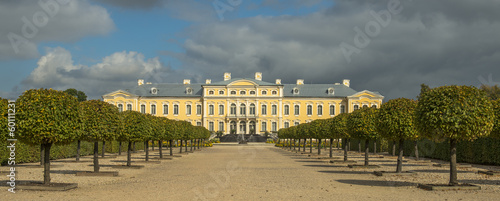 Rundale palace is summer Residence of Duke of Courland, Latvia