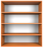 Wooden shelves