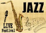 Support JAZZ Saxophone poster