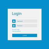 Vector login interface - username and password poster