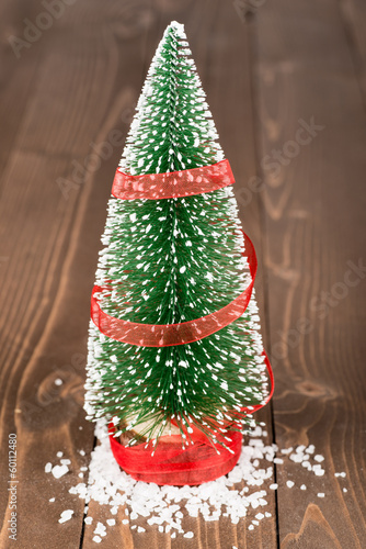 Decorative Christmas Tree With Snow