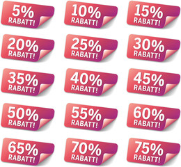 Set Sticker % Rabatt