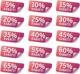 Set Sticker % Rabatt