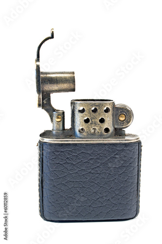 Vintage lighter isolated on white