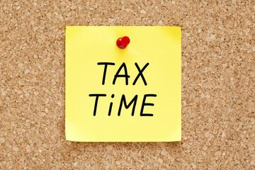 Tax Time Sticky Note