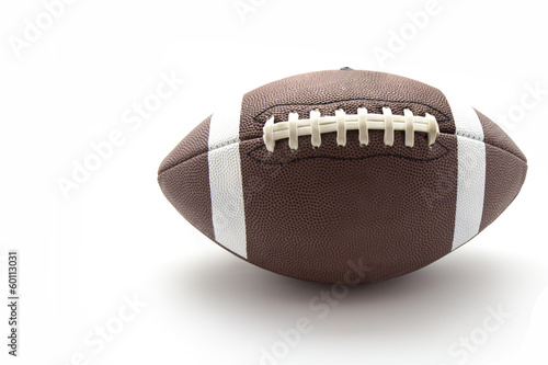 us football ball on white background