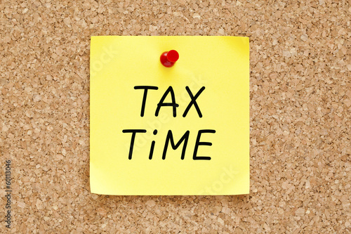 Tax Time Sticky Note