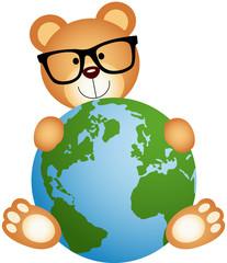 Teddy Bear with Globe