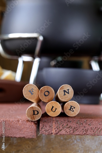 special fondue forks with letters soft focus
