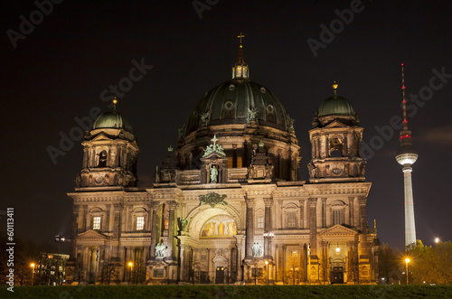Berlin Cathedral at night. Berlin, Germany