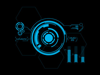 Futuristic user interface HUD 05