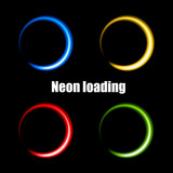 Colorful neon circles for loading data