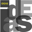"""IDEAS"" Letter Collage (solutions innovation success project)"