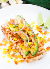 Avocado lime salmon