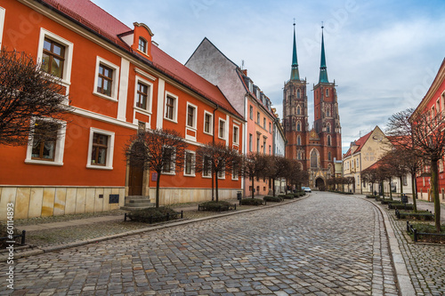 Wroclaw old city panorama