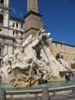 Italie - Rome - Fontaine des quatre-fleuves place Navone