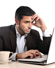Businessman stressed and overworked