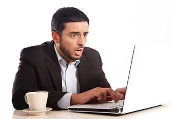 Businessman with Computer overworked