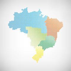 Brasilien Karte Regionen Punkte