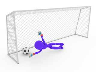 Goalkeeper not catches a soccer ball #1