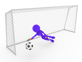 Goalkeeper catches a soccer ball #6