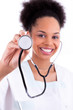 Young african american doctor with a stethoscope - Black people