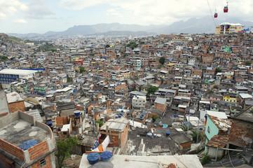 Brazilian Favela Urban Slum Panorama Rio de Janeiro