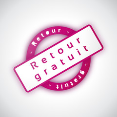 Retour Gratuit - Illustration vectorielle