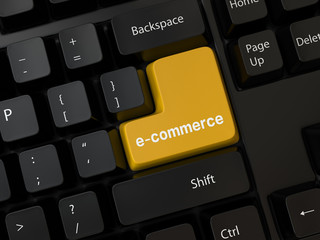 Keyboard with a word e-commerce