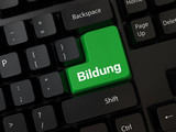 Keyboard with a word Bildung