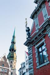 in der historischen Altstadt von Riga