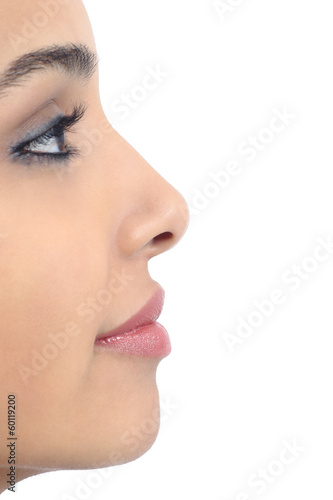 Profile of a perfect woman nose