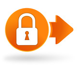 cadenas sur symbole web orange