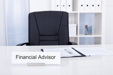 Financial Advisor Title On Nameplate