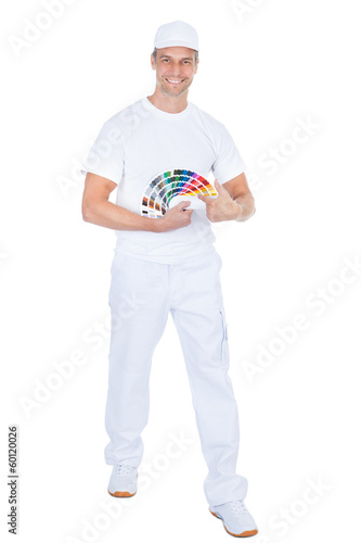 Male Painter With Swatch Book