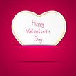 Valentine card with paper heart