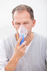 Man Doing Inhalation