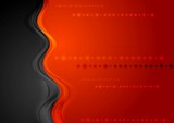 Bright shiny wave vector background