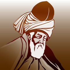 Mevlana  Celaleddin-i   Rumi (renkli)