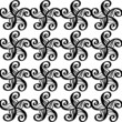 Abstract floral seamless pattern in black and white