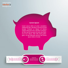 Silver Background Piggy BAnk