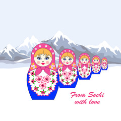 Five Russian dolls