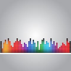 music abstract colored background