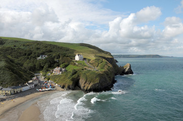 Sandy bay at Llangrannog in Cardigan