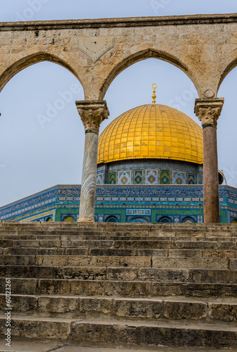 Temple mount view through arch