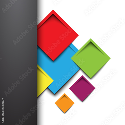 3d rectangle design template