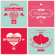 Valentine's Day greeting card in retro style