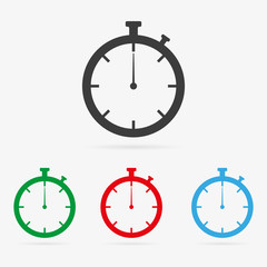Vector stopwatch icons