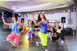 zumba and aerobics girls