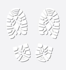vector  winter foot prints